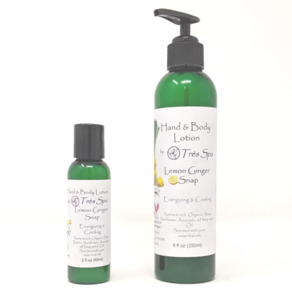 Lemon Ginger Snap Organic Hand & Body Lotion by Tres Spa