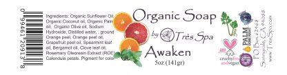 Tres Spa Organic Soap - Awaken