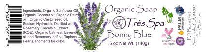 Tres Spa Organic Soap - Bonny Blue