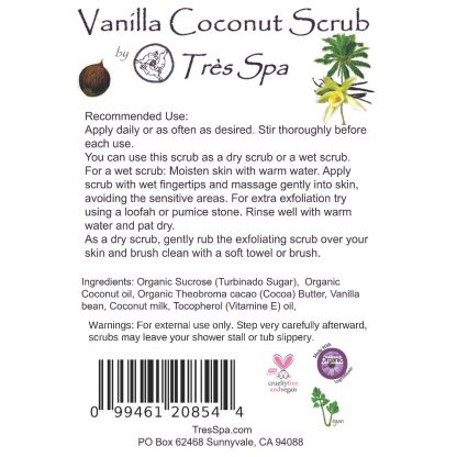 Tres Spa Vanilla Coconut Body Scrub