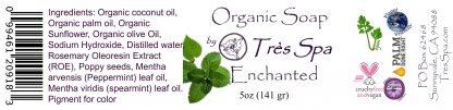 Tres Spa Organic Soap - Enchanted