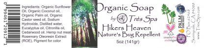 Tres Spa Organic Soap - Hikers Heaven