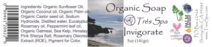 Tres Spa Organic Soap - Invigorate