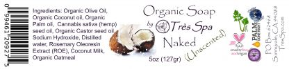 Tres Spa Organic Soap - Naked