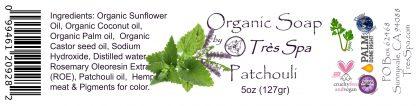 Tres Spa Organic Soap - Patchouli