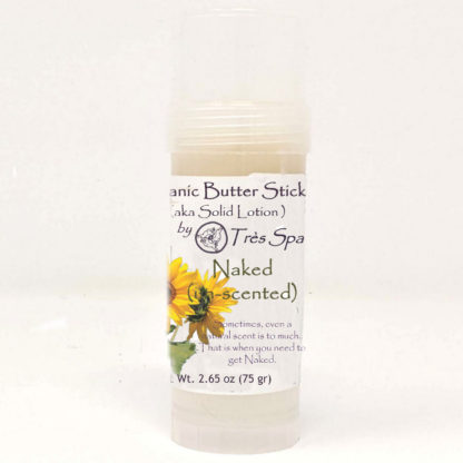 Organic Butter Stick Naked (un-scented) by Tres spa