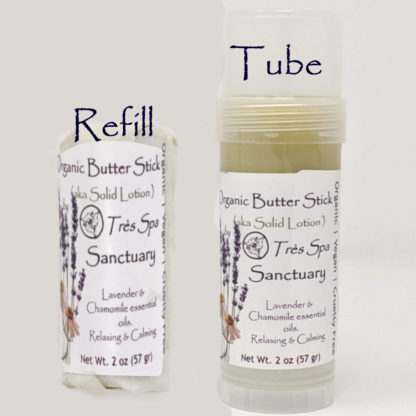 Organic Butter Sticks Sanctuary by Tres Spa