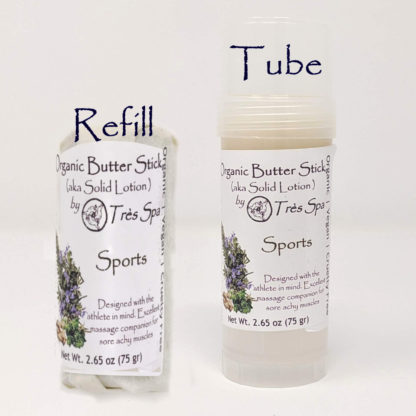 Organic Butter Sticks Sports by Tres Spa