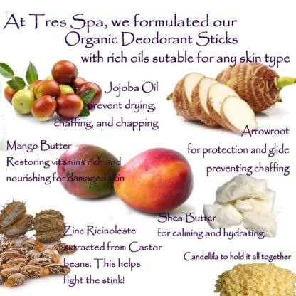 Organic Vegan Deodorant by Tres Spa