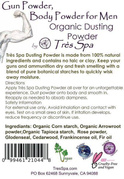 Gun Powder, Body Powder for Men by Tres Spa