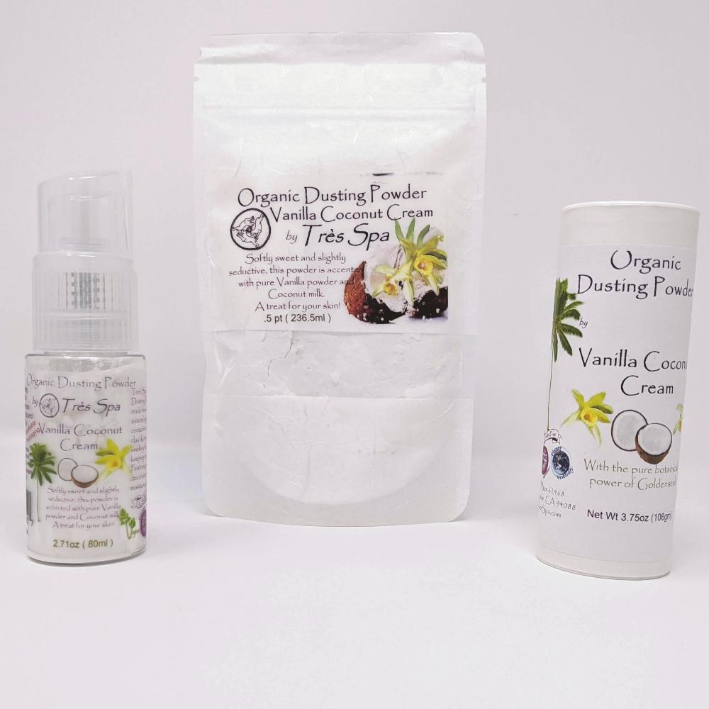 Vanilla Coconut Cream Dusting Powder by Tres Spa