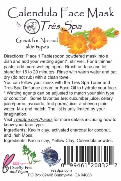 Tres Spa Face Mask Calendula