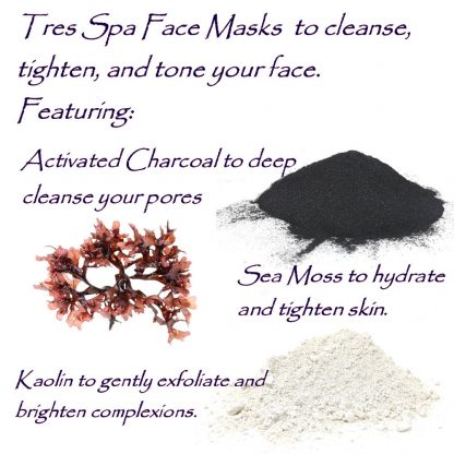 Tres Spa Face Mask Moss and Charcoal
