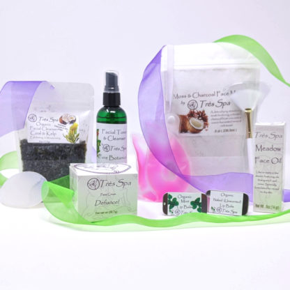 Gift Set Luxury Spa Facial Moss and Charcoal