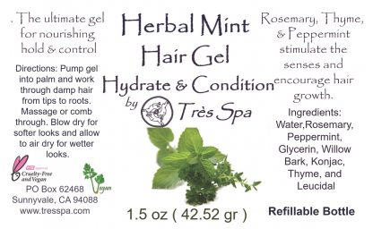 Tres Spa Hair Gel Herbal Mint