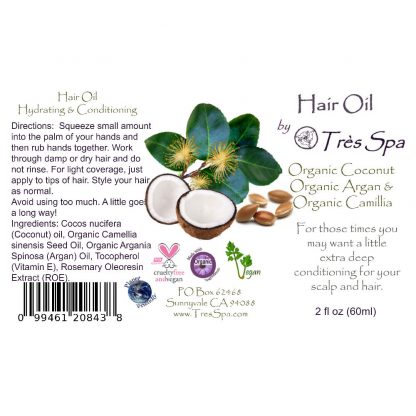 Tres Spa's Deep Conditioning Hair Oil