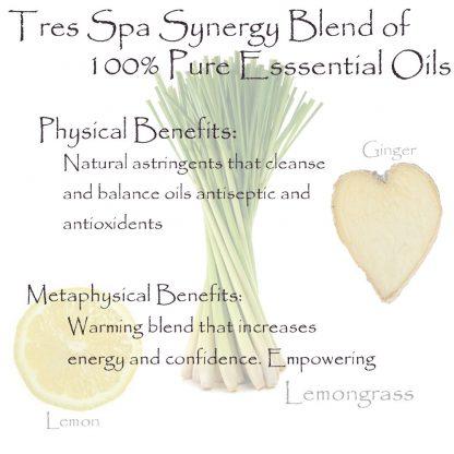 Tres Spa Synergy Blend - Lemon Ginger Snap
