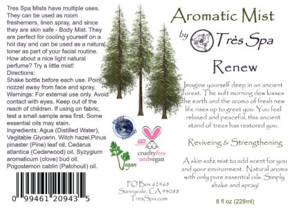 Aromatic Mist Renew by Tres Spa