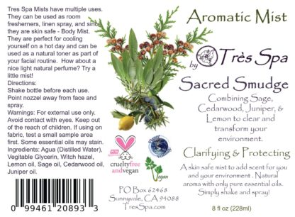 Aromatic Mist Sacred Smudge by Tres Spa