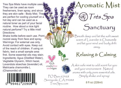 Aromatic Mist Sanctuary by Tres Spa