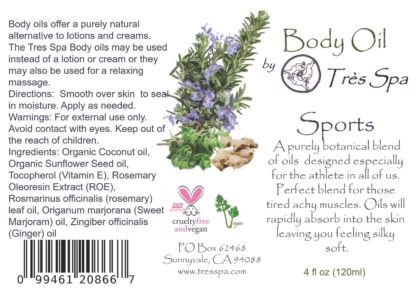 Body Oil Sports by Tres Spa