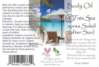 aPres Soleil (After Sun) Body Oil by Tres Spa